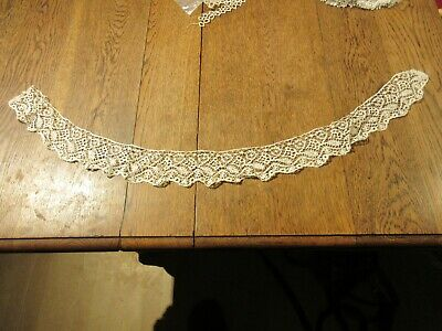 ANTIQUE LACE TRIM SECTION  1800'S  HANDMADE  860 mm x 65 mm