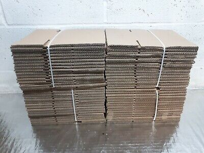 60x SMALL  MAILING POSTAL CARBOARD BOXES PACKING GIFT CARTONS