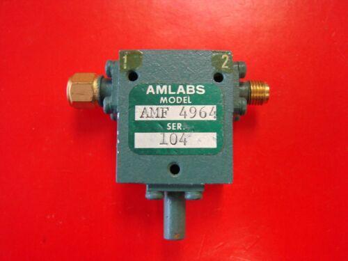 AMLABS 4-8GHz Isolator Model AMF-4964, SMA
