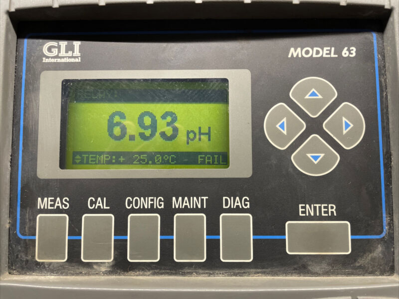 GLI International Model 63 pH Analyzer P63A1N1A1A1NNN