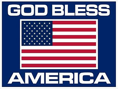 God Bless America 18 X 12 Coroplast Two Sided Sign With Stand - Free Shipping
