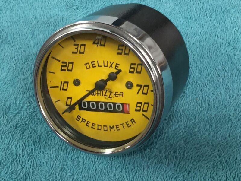 Whizzer Deluxe Speedometer New Reproduction Heavy