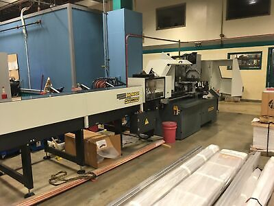 Hydmech Cnf400 Cnc Automatic Vertical Column Cold Saw W12bar Feeder Outfeed