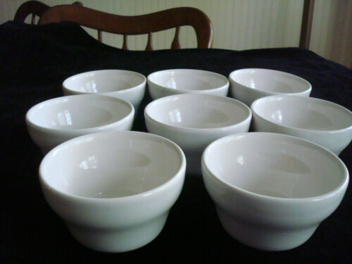 (8) Vtg.HF Coors China Co.~ALOX & CHEFSWARE~Custard~BRULEE~Bowls~Cups~STACKABLE