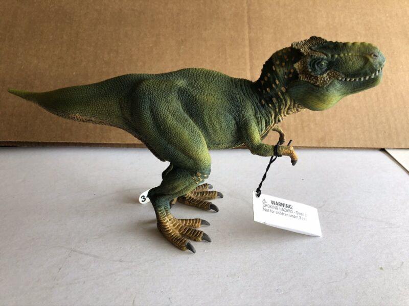"Schleich 11"" Green Tyrannosaurus T-Rex Dinosaur Figure with Movable Jaw Mint"