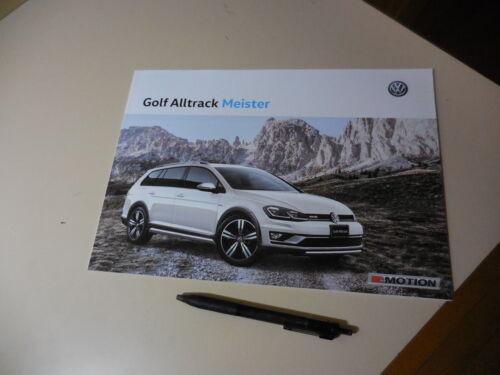 VolksWagen GOLF Alltrack Meister Japanese Brochure 2019/06 ABA-AUCJSF