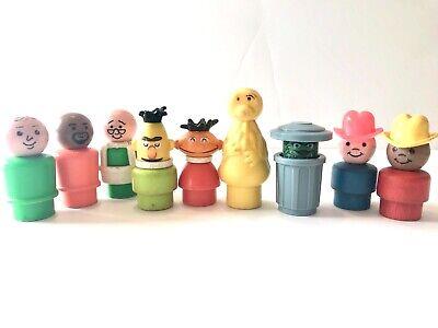 Vintage 1975 Fisher Price Sesame Street Little People Figures, Ernie,Bert,Oscar
