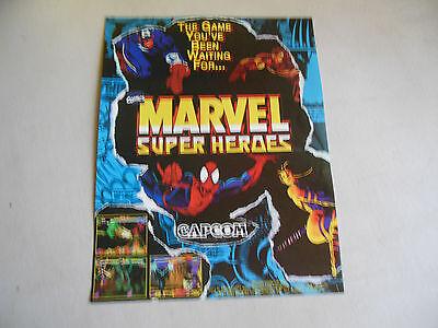 MARVEL SUPER HEROES  Capcom   ARCADE GAME  FLYER