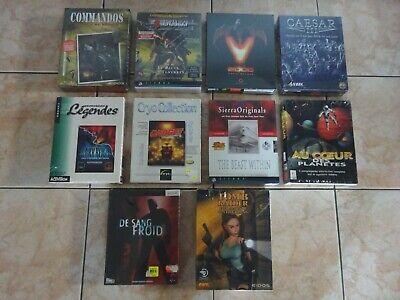 Pc Big Box. Ancien jeux pc. CD-ROM. Lot de 10 jeux neuf en boite. a voir. New