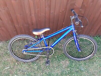 "Blue BMX 20"" Wheels New Tyres, Inner Tubes, Chain & Cables Bike Kids Bicycle"
