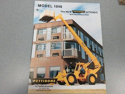 Rare Pettibone 1048 Extendo Forklift Sales Sheet