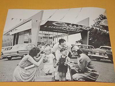Vintage 14  X 11   Carrols Fast Food Restaurant  Old Cars Photo