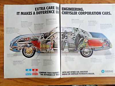 1973 Chrysler Ad Extra Care in Engineering Makes a Difference