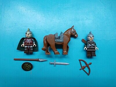 Lego Lord of Rings Lot 3 Minifigures Eomer Rohan Soldier Horse Weapons 9471!