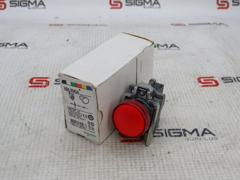 Schneider Electric XB4 BVG4 Red Indicator Light, 110-120VAC, 22mm