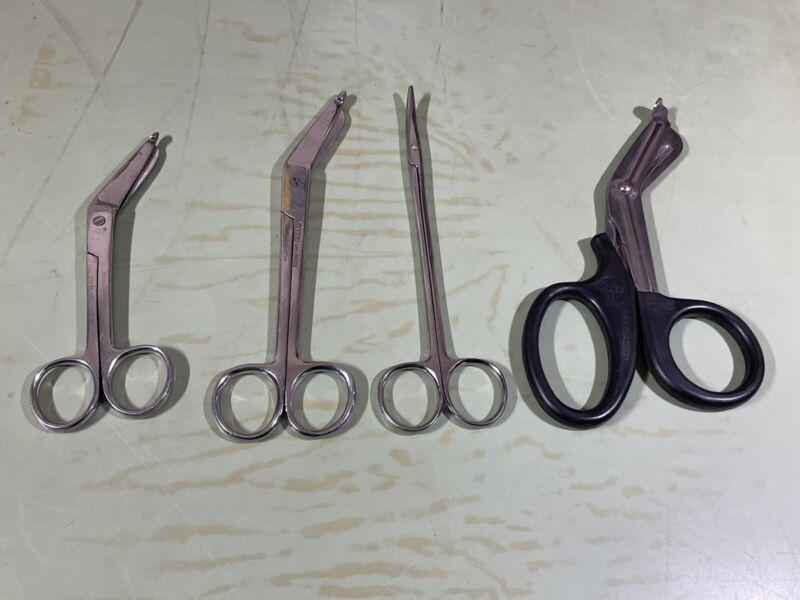 Vintage Lot Of Bandage Scissors Miltex German Hi Quality Medical Instruments