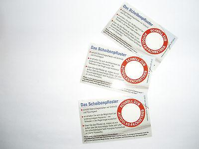 3 x Steinschlagpflaster Erste Hilfe für die Windschutzscheibe