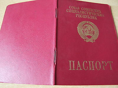 alter Reisepass abgelaufen Pass Ausweis UdSSR Sowjetunion Russland Ukraine 1991