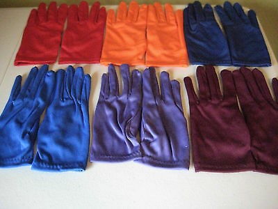 Girls Gloves Spandex Blend Dance Dress Up Costumes Teams Many Colors! One Size - Dress Up Gloves