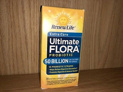 Renew Life Ultimate Flora 50 billion EXTRA CARE Probiotic 30 Caps EXP: AUG 2018