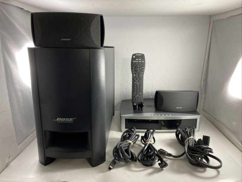 VINTAGE BOSE AV 3-2-1 II GSX DVD MEDIA CENTER + BOSE SUBWOOFER 2 BOSE SPEAKERS +
