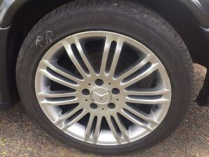 """Mercedes 17"""" rims and tires"""