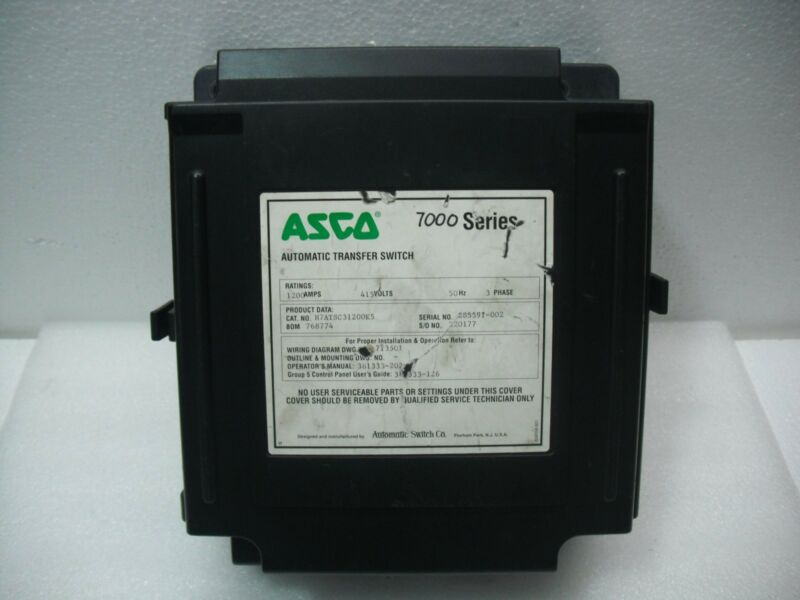 Asco 7000 Series H7atsc31200k5 Automatic Transfer Switch