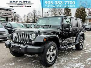 2018 Jeep Wrangler 4X4, REMOTE START, NAV, HEATED LEATHER SEATS,