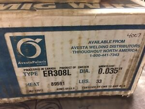 33 lbs SPOOL OF ER308L STAINLESS STEEL WELDING WIRE