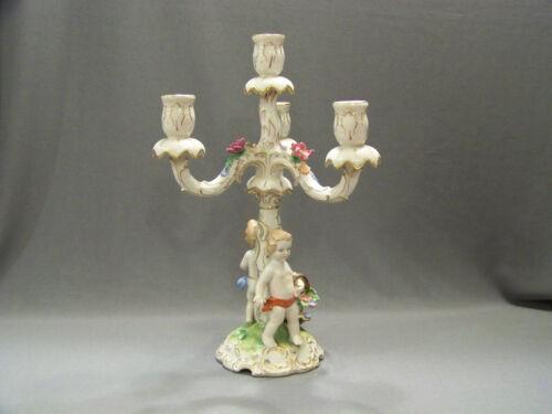 Antique porcelain candle holder Dresden center piece Von Schierhotz Germany