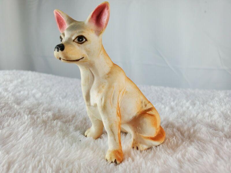 Vintage Tan Porcelain Chihuahua