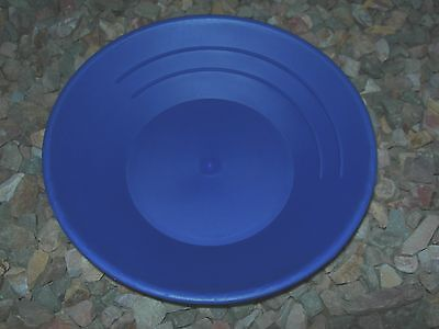 Gold Pan Panning 10 High Impact Plastic Blue Prospecting Mining Sluice Nuggets