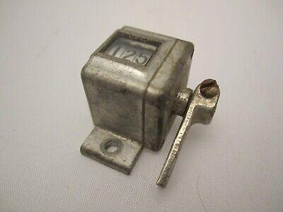 Vintage Mechanical Number 3 Digit Counter Veeder Patented 1895 1911