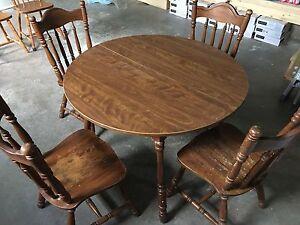 Hardwood table set( 1 table 4 chairs)