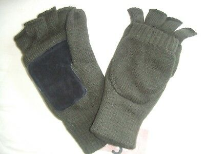 d5e915f3941d3 GREEN SUEDE PALM GRIP COLDWEATHER WINTER HUNTING GLOMITTS HUNTERS MITTENS  MITTS