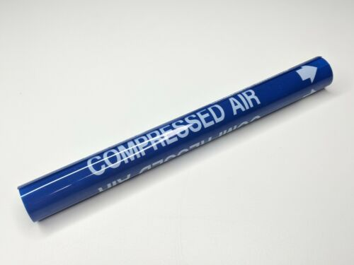 """Compressed Air Coiled Pipe Marker - 1/2"""" thru 1"""" - wrap ms975 style A"""