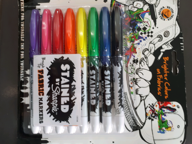 stained by sharpie brush tip fabric markers miscellaneous goods
