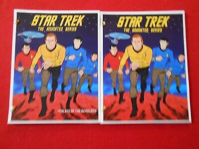 2 scripts from the 1970's animated version of Star Trek