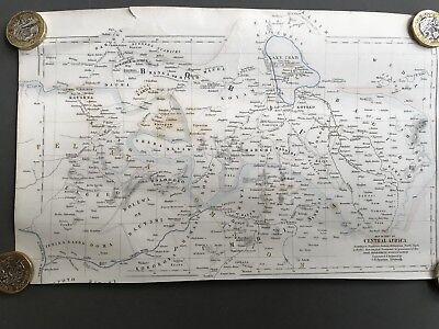 Map of part of Central Africa Royal Geographical Society engraved G Sawnston