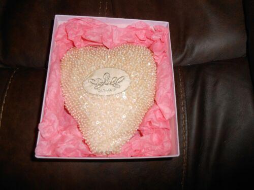 Princess Diana Commemorative Beaded Heart Pillow Althorp in Original Box