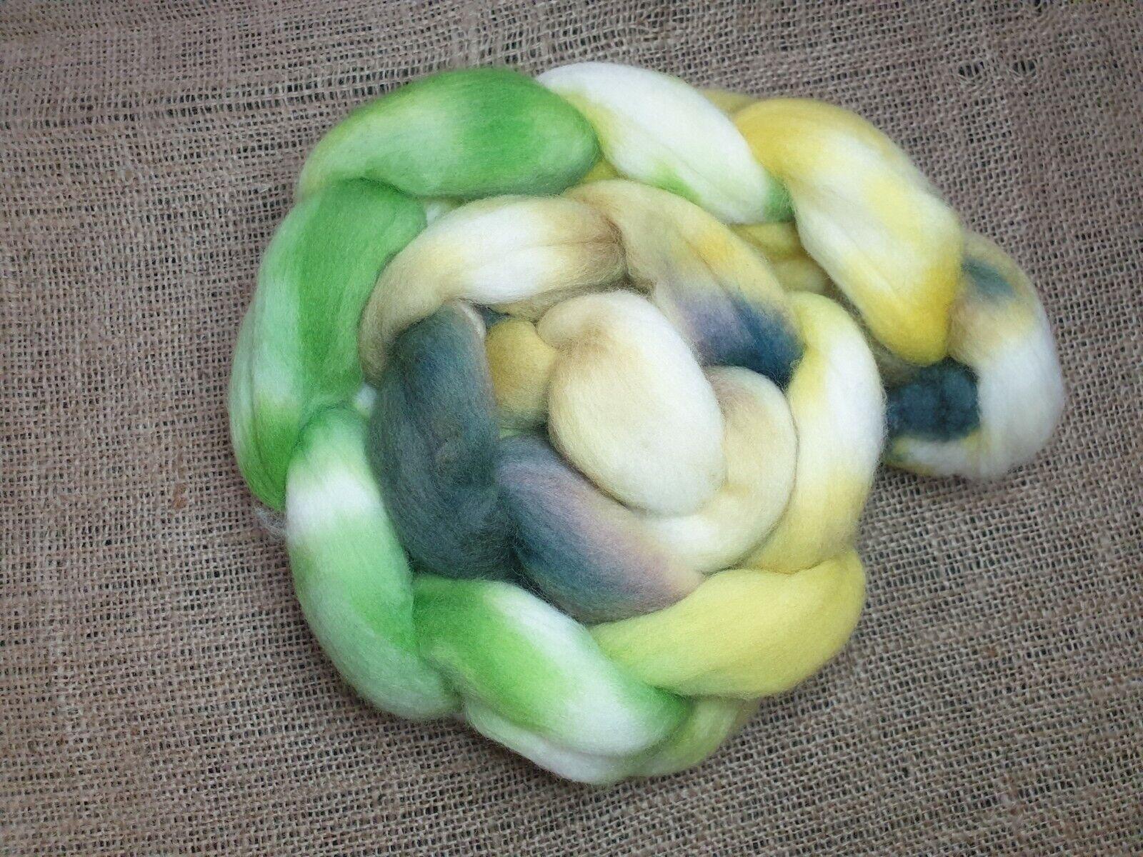 как выглядит Hand dyed Merino roving, wool top, 100 g, HABITAT фото