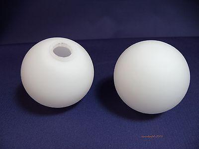 Lampenschirm Lampenglas Leuchtenglas Glaskugel Ø50mm - G4,  Opalglas weiß matt
