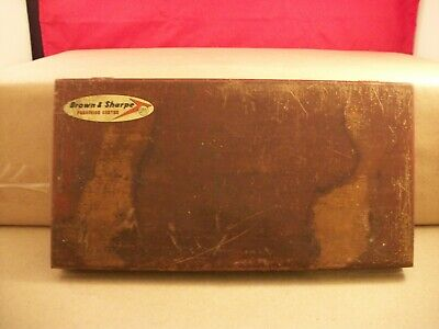 Vintage Brown And Sharpe No. 655 Micrometer Length Standards With Box