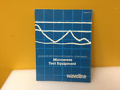 Waveline Catalog No. 37 Waveguide Coaxial Instrumetns Microwave Test Equipment