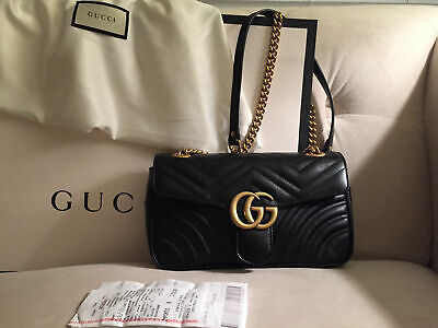 New (Never Used) Authentic Gucci GG Marmont Small Matelasse Shoulder Bag