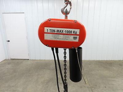 Cm Lodestar Model L 1 Ton 2000lb Electric Chain Hoist 3ph 146lift 16 Fpm