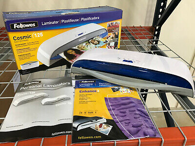 Fellowes Cosmic 125 Personal Laminator 12.5 Bnib With Starter Kit Pouches
