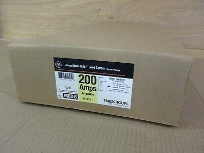 GE PowerMark Gold 200 Amp Main Breaker Outdoor Load Center TM820RCUFL