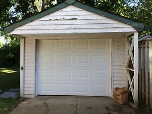 9x7 Garage Door and all hardware for sale