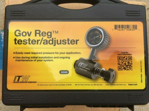Gov Reg TESTER Adjusting Tool G5500 with case